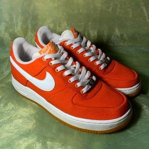 Nike Air Force 1 Low Canvas Orange Peel Shoes